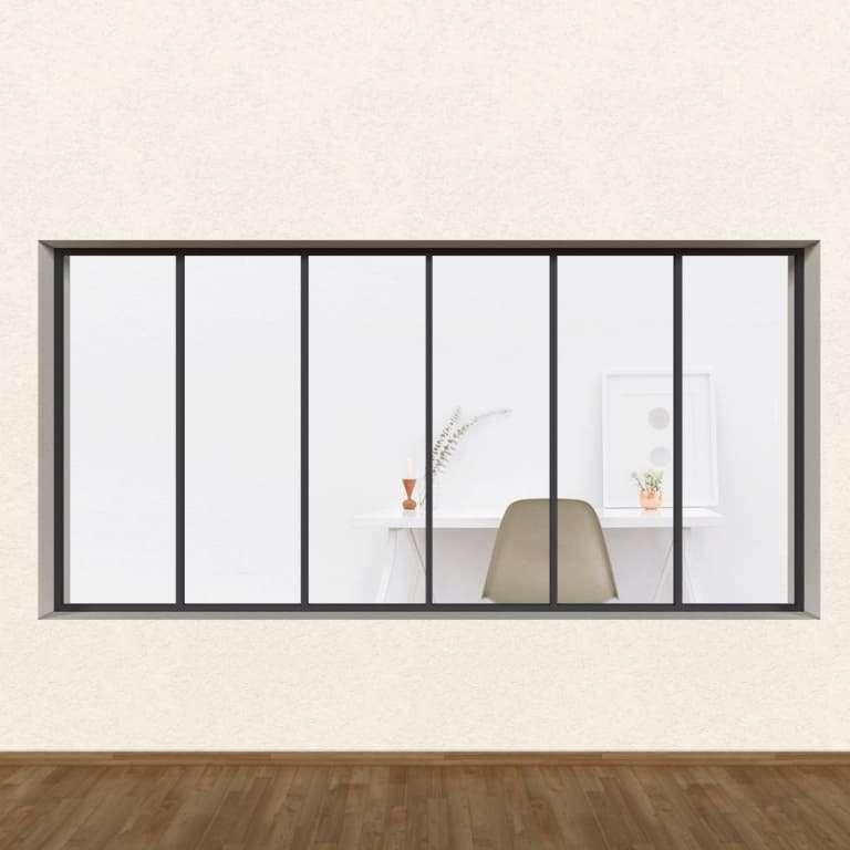 Verrière Atelier Gamme Loft ALU 6 vitrages (Sans vitrage)
