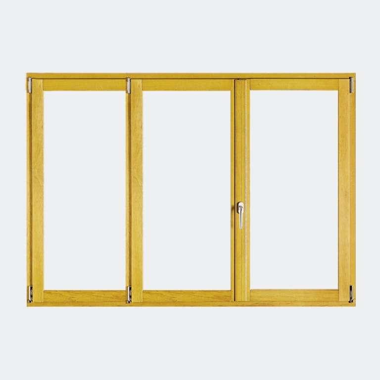 Fenêtre Bois gamme Liberté 3 vantaux ouverture à la française