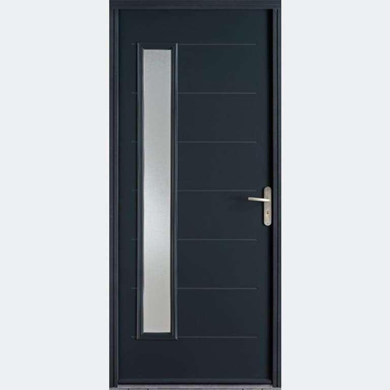Porte entrée Acier marque Bel'M modèle ABSCISSE 1 vantail
