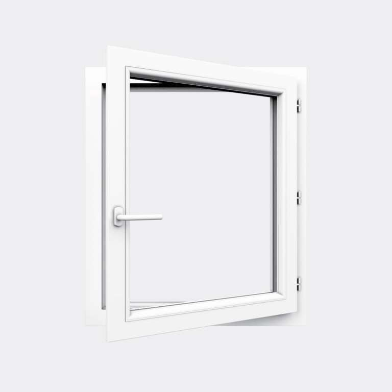 Fenêtre PVC gamme Design 1 vantail ouverture à la française ouvert
