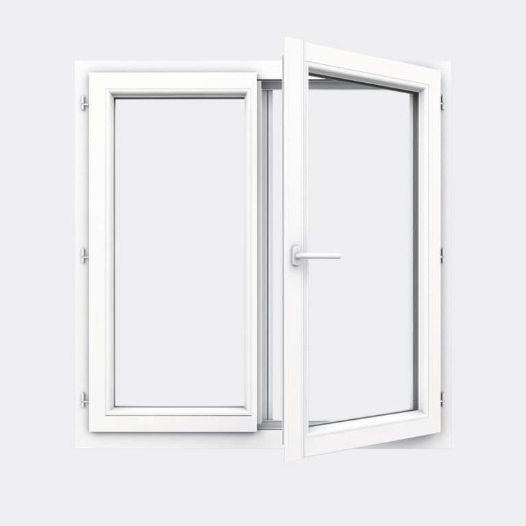 Fenêtre PVC gamme Design 2 vantaux ouverture à la française ouvert