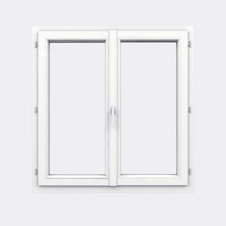Fenêtre PVC gamme Design 2 vantaux ouverture à la française fermé