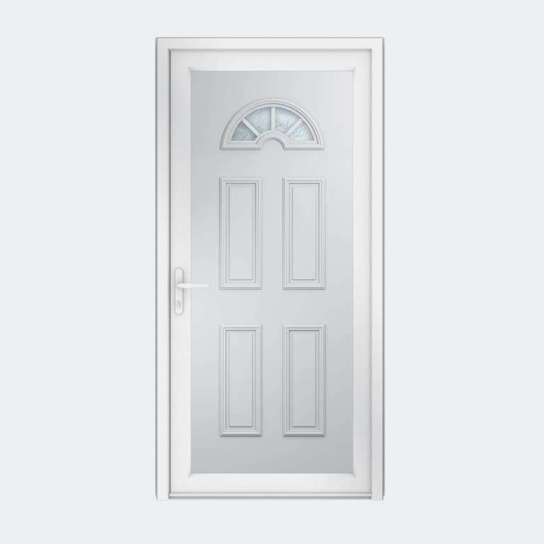 Porte entrée PVC gamme Classique modèle MARQUISES S 1 PB à 1 vantail
