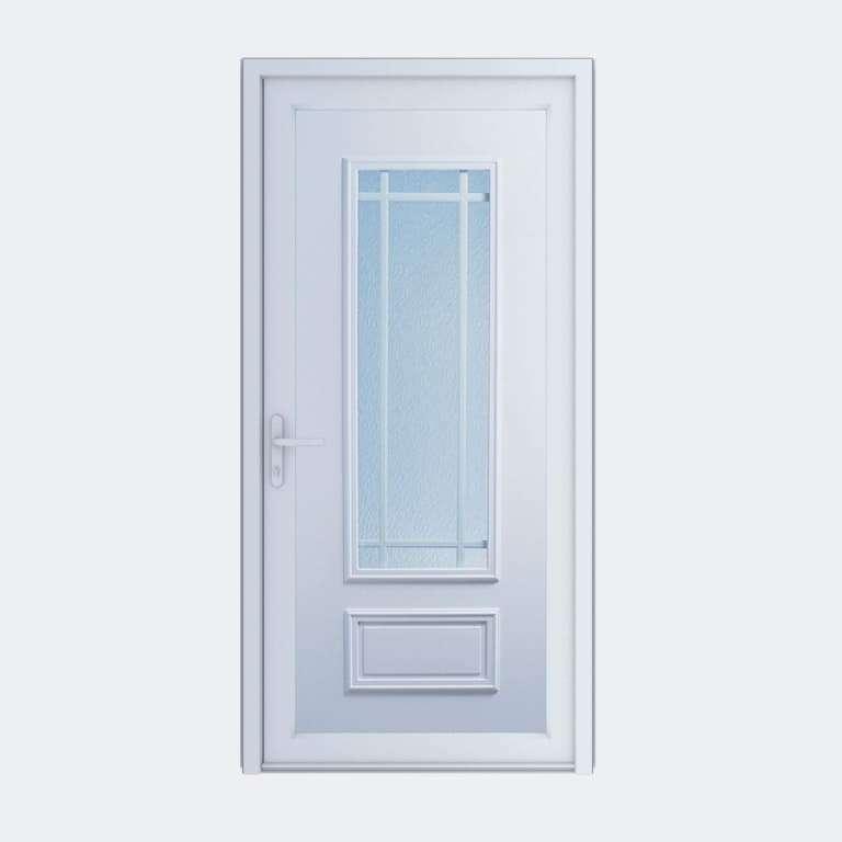Porte entrée PVC gamme Classique modèle OLERON 1 PB2 à 1 vantail