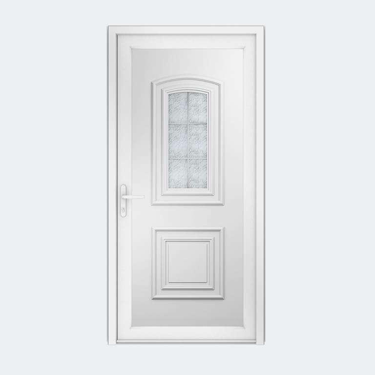 Porte entrée PVC gamme Classique modèle TAHITI S1 PBPL à 1 vantail