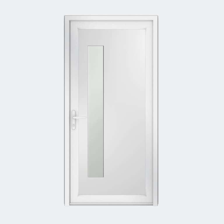 Porte entrée PVC gamme Contemporaine modèle DECOR 19 S à 1 vantail
