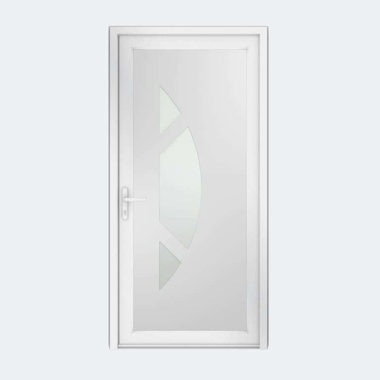 Porte entrée PVC gamme Contemporaine modèle DECOR 21 S à 1 vantail