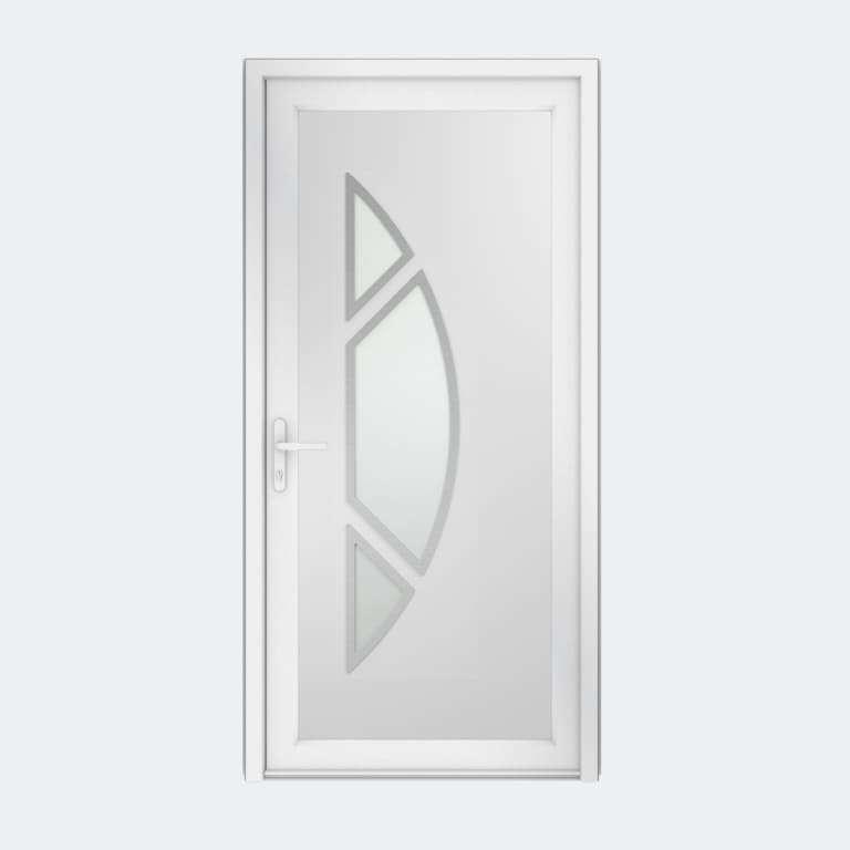 Porte entrée PVC gamme Contemporaine modèle DECOR 21 S 3C à 1 vantail