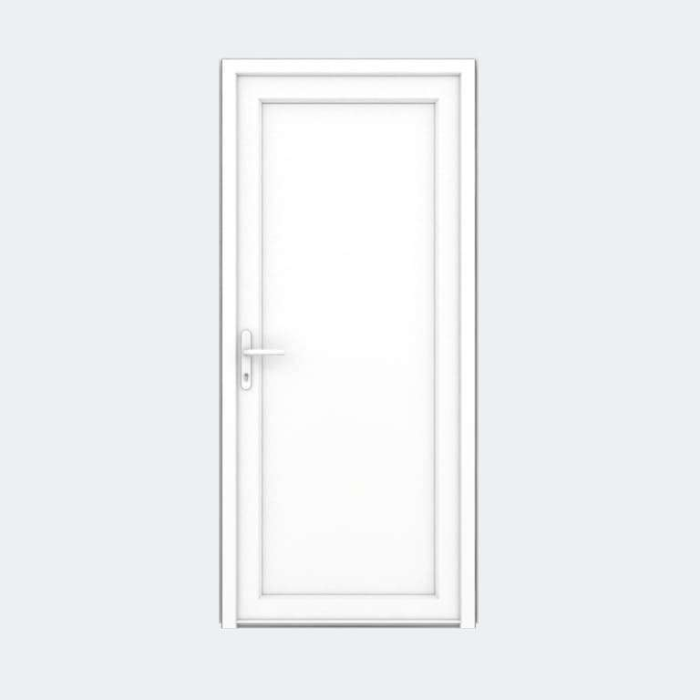 Porte entrée PVC gamme FlexyP remplissage panneau plein 1 vantail