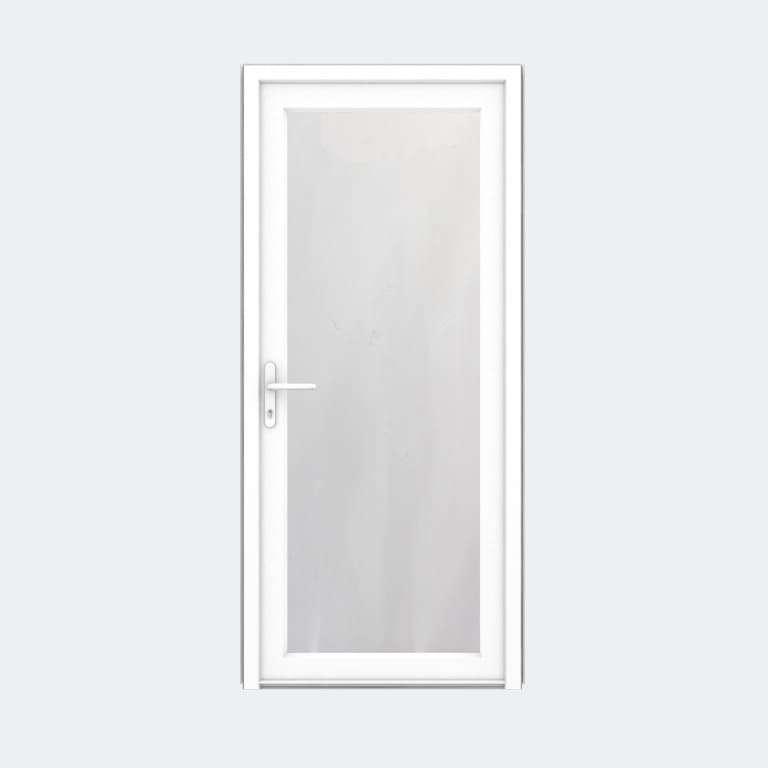 Porte entrée PVC gamme FlexyP avec vitrage feuilleté 1 vantail