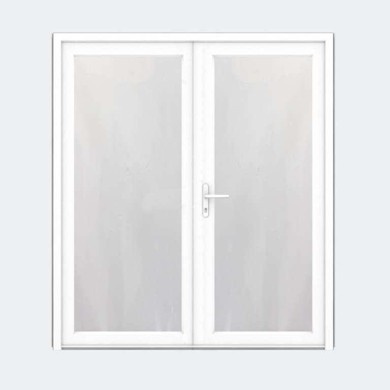Porte entrée PVC gamme FlexyP avec vitrage feuilleté 2 vantaux