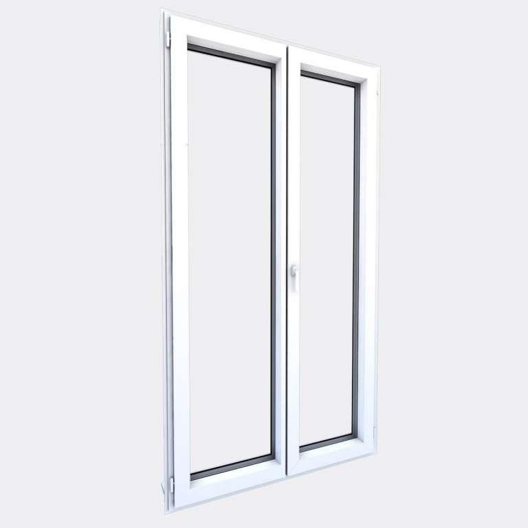 Porte Fenêtre ALU gamme Titans 2 vantaux dont 1 oscillo-battant fermé