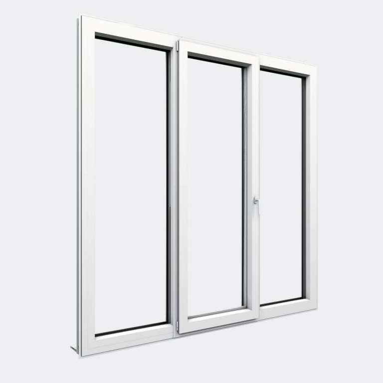 Porte Fenêtre ALU gamme Titans 1 vantail oscillo-battant 2 fixes fermé