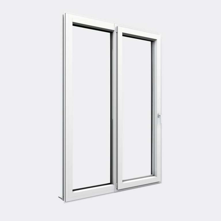 Porte Fenêtre ALU gamme Titans 1 vantail oscillo-battant 1 fixe fermé