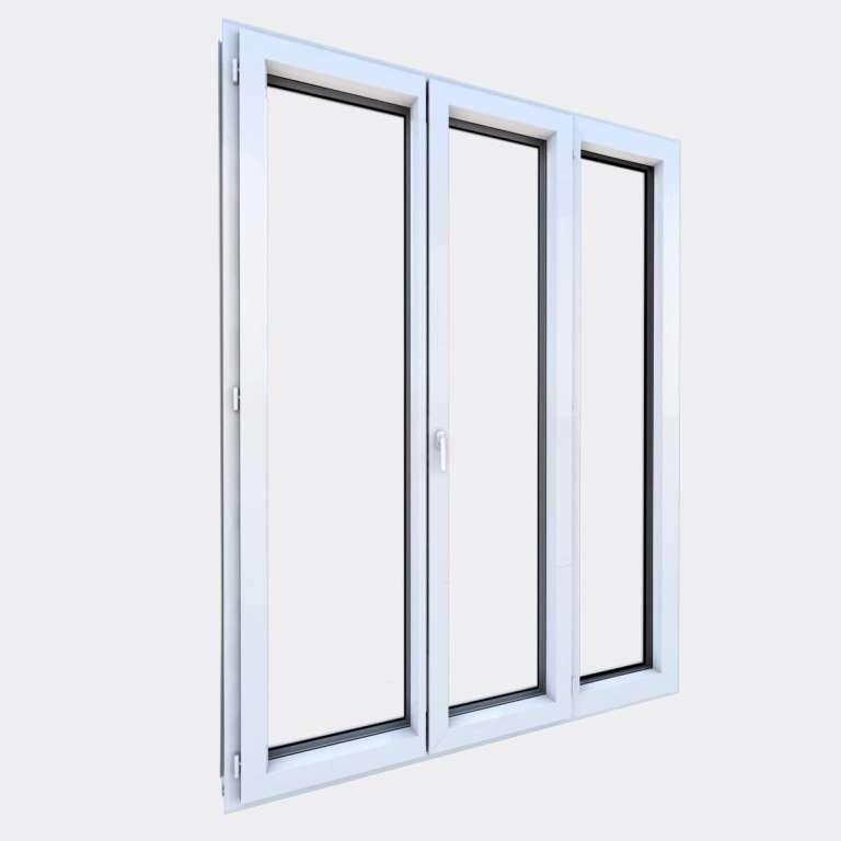 Porte Fenêtre ALU gamme Titans 2 vantaux dont 1 oscillo-battant 1 fixe fermé