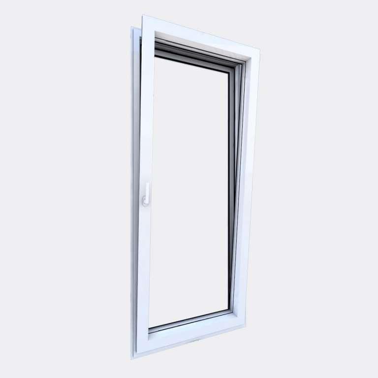 Porte Fenêtre ALU gamme Titans+ 1 vantail oscillo-battant ouvert