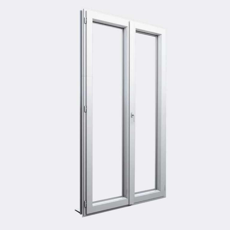 Porte Fenêtre ALU gamme Titans+ 2 vantaux dont 1 oscillo-battant fermé