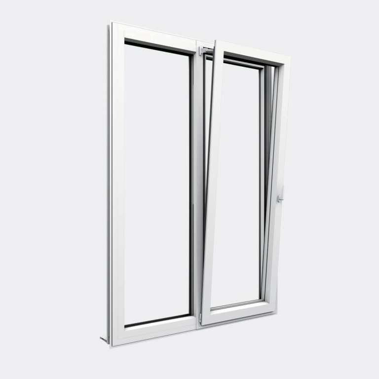 Porte Fenêtre ALU gamme Titans+ 1 vantail oscillo-battant 1 fixe ouvert