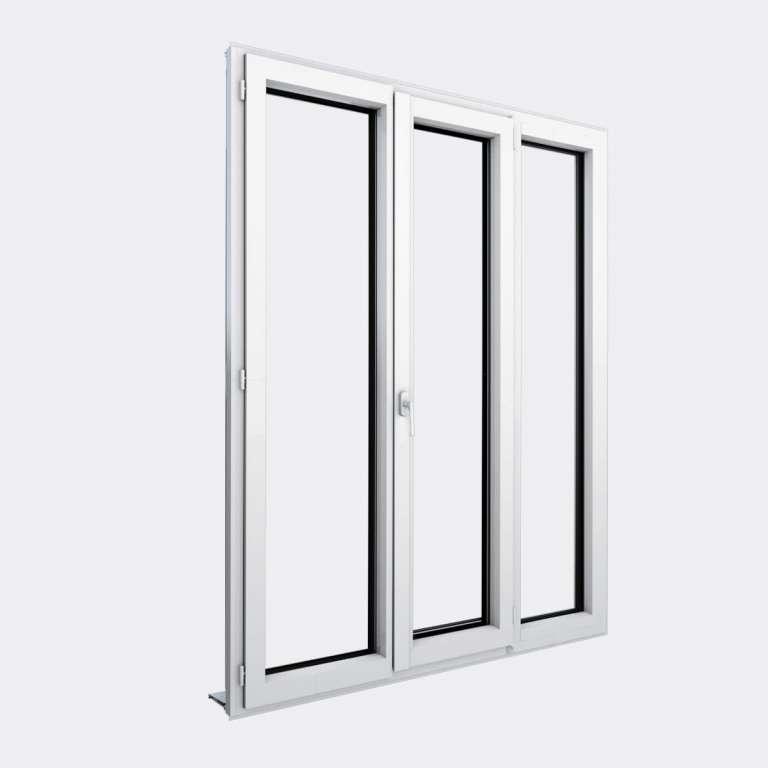 Porte Fenêtre ALU gamme Titans+ 2 vantaux dont 1 oscillo-battant 1 fixe fermé