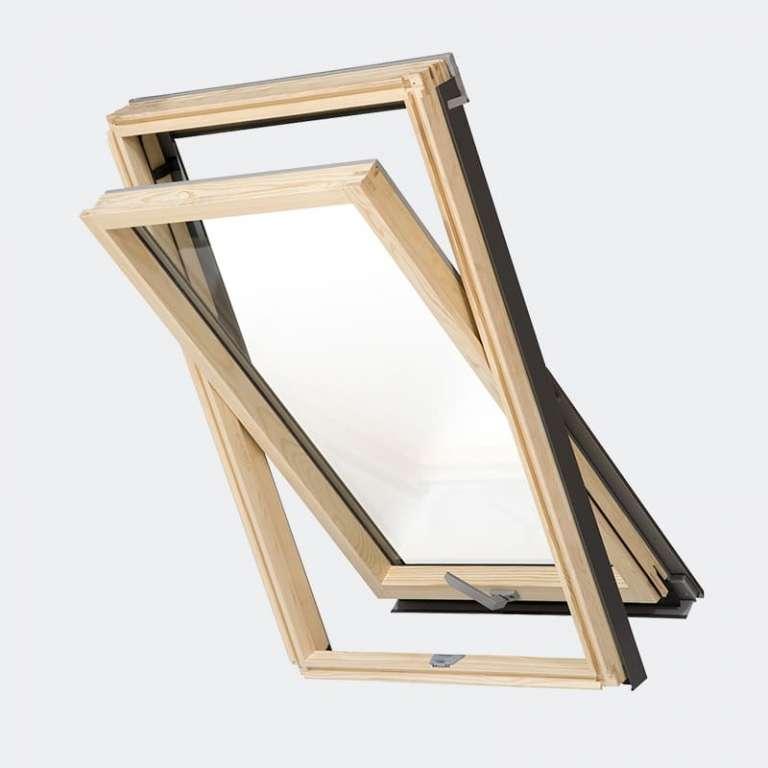 Fenêtre de toit Bois Slim design gamme Access double vitrage 2