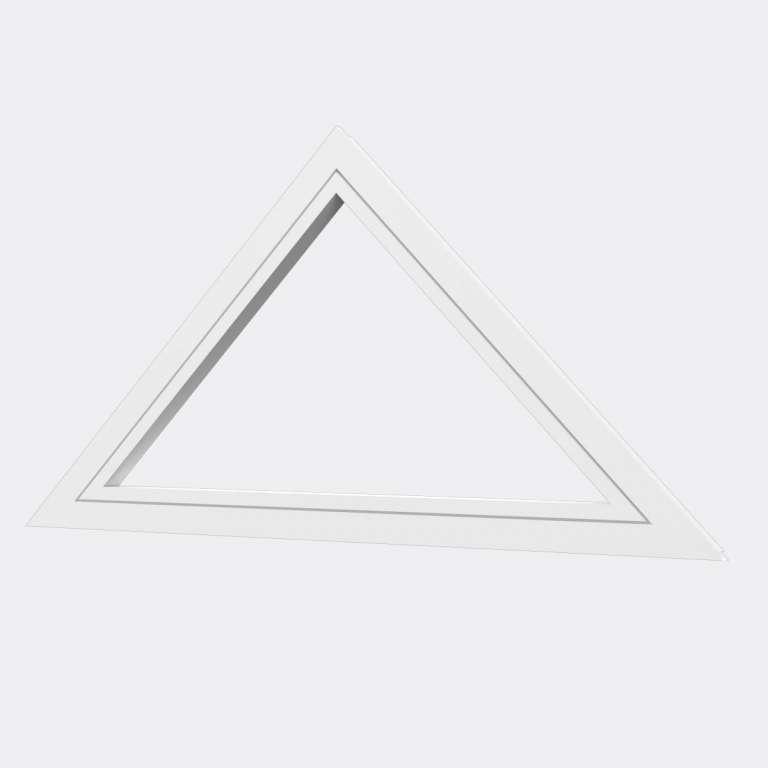 Fenêtre Triangle (houteau fixe) PVC gamme Design